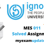 mes 011 solved assignment